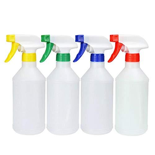 Cratone 4 stücke Kunststoff Transparent Trigger Leere Wasser Sprühflasche Zerstäuber Blume Pflanze Garten Bewässerung Werkzeug 500 ml (Farbe zufällig)