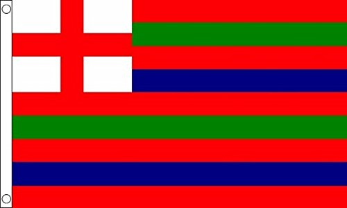 Flag Wholesaler Striped Ensign Flagge rot/grün/blau, Large (Flag Red Football)