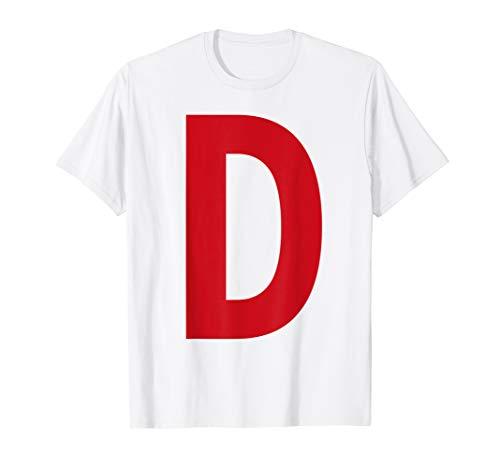 Kostüm Buchstaben Alphabet - Buchstabe D: Shirt für Karneval Fasching JGA Gruppen Kostüm