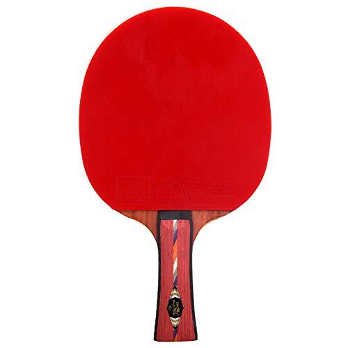SSHHI 8-Sterne-Tischtennisschläger, Komfortabler Holzgriff, Professionelles Tischtennisschlägerset, Stark/Wie gezeigt / 15 x 25.8cm