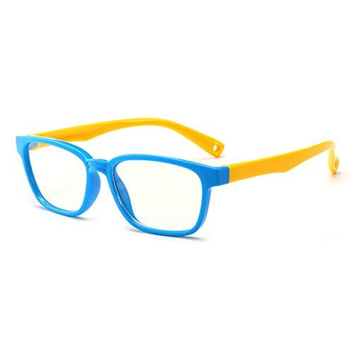 GPZFLGYN Anti-Blau Computer Gläser Anti-Fatigue Baby Anti-Blau Licht Silikon Brille Marke Kinder Weichen Rahmen Goggle Plain Brille Kids Eye Fame Eyewear Fashion