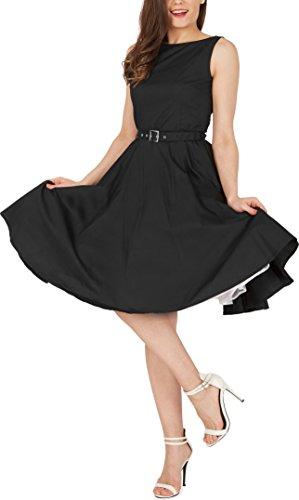 Black Butterfly 'Audrey' Vintage Clarity Kleid im 50er-Jahre-Stil (Schwarz, EUR 36 – XS) - 4