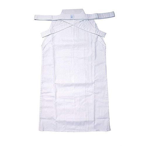Japanischen Kostüm Den Karate - G-like Kampfsport Kendo Kenjutsu Uniform - Traditionelle Japanische Schwertkampfkunst Kostüm Karate Ninja Aikido Training Kleidung Keikogi Jacke Hakama Hose für Männer Frauen (White, XXL)