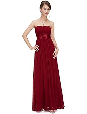 Ever Pretty Damen Empire Taille Schulterfrei Lange Abendkleider 09955