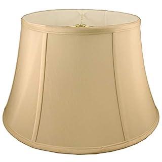 American Pride Lampshade Co. 72-78090417C Round Soft Tailored Lampshade, Shantung, Honey