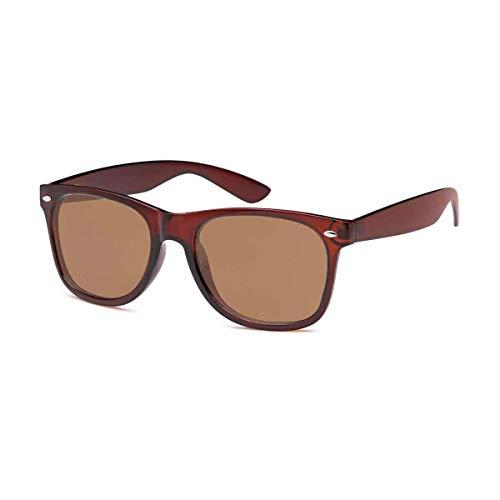Lieblingsmensch Unisex Sonnenbrille im Wayfarer Stil (Polarisiert Braun Braun)
