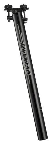 Reverse Black Line Fahrrad Sattelstütze Black Polish 400mm schwarz: Größe: 31.6mm / 400mm - Line Sattelstütze