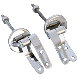 MSV Hinges for Toilet Seats of Stainless Steel, Silver