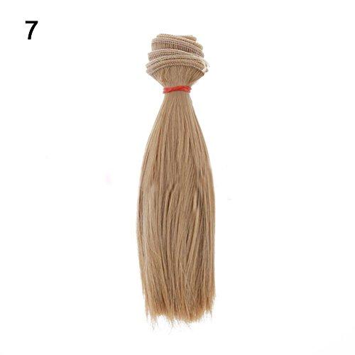 t so verschiedenen 15cm DIY Schöne Hochtemperatur Seide glattes Haar Perücke für Barbie BJD Puppe-# 13 ()