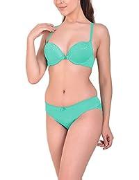 0d94573d350 Angels Aura Polyamide Women s Front Closure Bra   Bikini Lingerie Set
