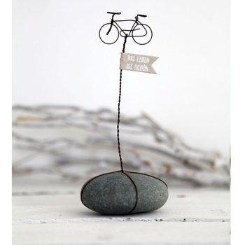 """Preisvergleich Produktbild Steingeschichte """"Das Leben ist schön"""" Fahrrad"""