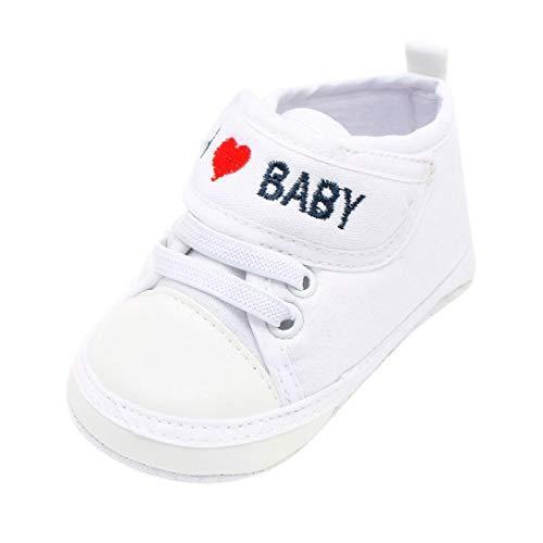 aa9e48ce7 Zapatos de Primeros Pasos para Unisex Bebés Niñas Niños Otoño Invierno  PAOLIAN Zapatillas Embroidered Amor Suela Blanda Bautizo Calzado Regalo para  recién ...