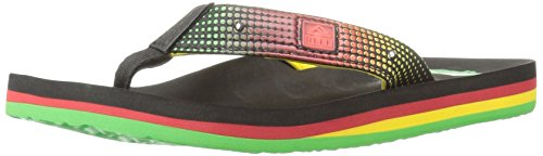 Reef Ahi Light Up, Tongs Garçons Multicolore (Rasta)