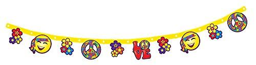 Forum Novelties X75881 Hippie Decoración de cartas, multicolor, talla única
