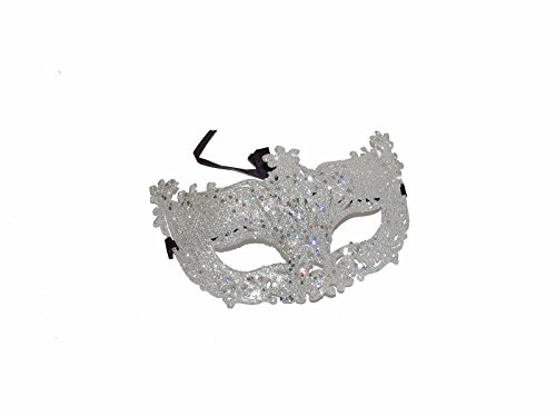 n Masquerade Silber Glitzer Maske Antik Stil Filigran Cut Out Glitzer Masquerade Maske, ideal für Partys, Fancy Kleid, Maske, Buch Tag, Halloween, Karneval, Fasching, Theater, spielt & Drama, Oper, Ball (Masquerade Ball Kleider Für Halloween)
