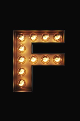 F: Glowing F Initial Notebook: Monogram Initial F Journal | Personalized Notebook