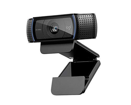 Logitech C920 HD Pro Webcam per , Videochiamata Full HD 1080p/30fps, Audio Stereo, Correzione della Luce HD, Funziona con Skype, Zoom, FaceTime, Hangouts, PC/Mac/Laptop/Macbook/Tablet, Nero