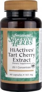 Swanson Herb Hiactives Tart Cherry (465mg, 60 Capsules) by Swanson Health Products