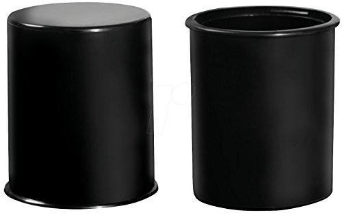 Lubrifix Anhängerkupplungsabdeckung schwarz mit patentierter Schmiervorrichtung für einen genormten Kupplungskugelkopf