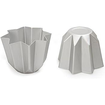 DECORA 0062687 Stampo Pandoro in Alluminio Anodizzato 500 G, Argento
