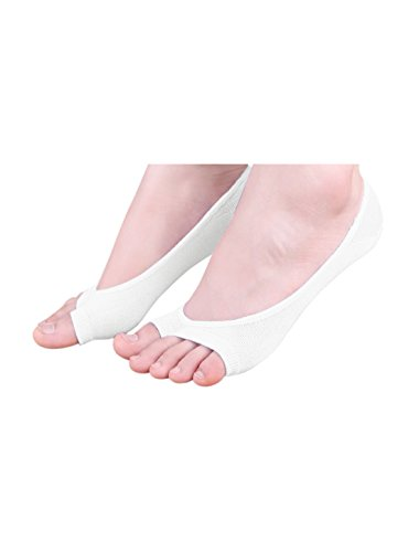 sourcingmap® 6 Paar Damen niedrig Schneiden keine Zeigung Zehelos Boot Socken Gr. 10-12