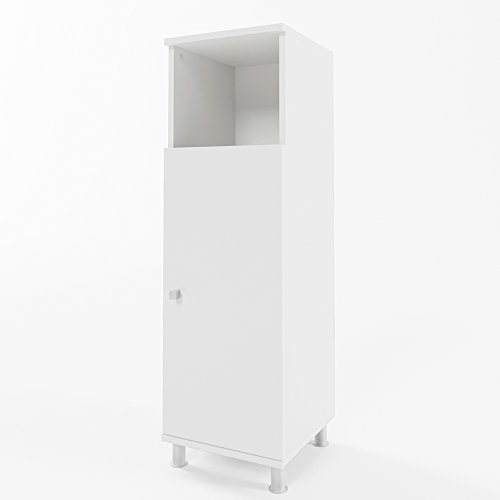 VICCO Beistellschrank FYNN 95 x 30 cm - Midischrank Badezimmerschrank Badschrank Schrank Regal (Weiß)