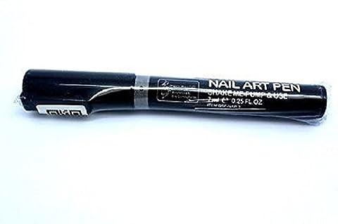 Eline Neues Design Nail Art Pen–Schütteln, Pumpe + schaffen Wasser Base Gel, DIY Professional Polish Dekorieren, Malerei, 16Farben zur Auswahl: schwarz, weiß + 14