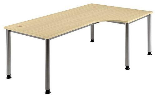 Ahorn Stahl Schreibtisch (Schreibtisch HILO 200 x 120 Ahorn / Alu)