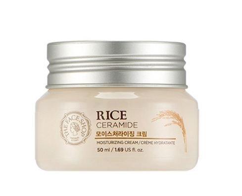 The Face Shop - Rice & Ceramide Feuchtigkeitscreme - Gesichtscreme mit Reis Extrakt und Ceramide