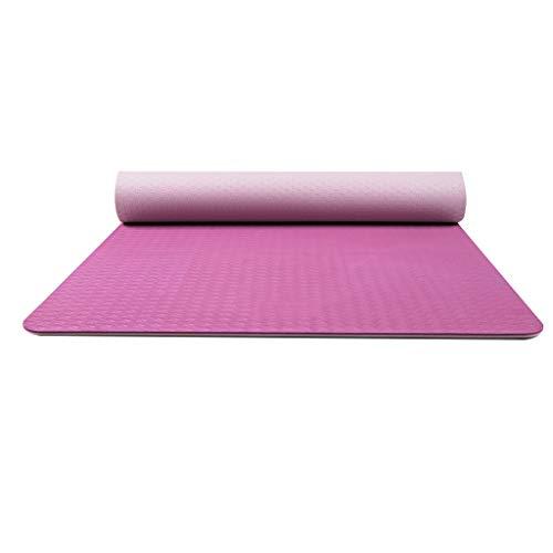Rutschfeste Yogamatte Yoga-Matte 6mm erweiterte Fitness-Matte umweltfreundlich unscented Rutschfest 183 * 71 * 0,6 cm Sport Yoga-Matte (Farbe : C) (Unscented Seife)