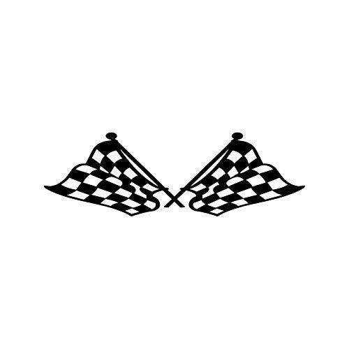 GKLCEF Auto Aufkleber 18,3 cm * 5,8 cm Mode Checkered Flag Race Racing Ziellinie Dekoration Vinyl Auto Aufkleber Aufkleber -