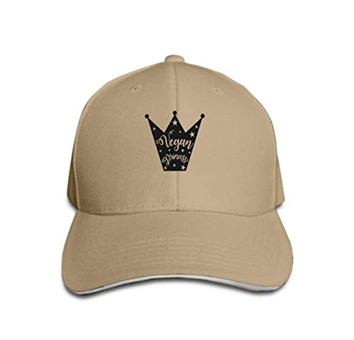 Classic 100% Cotton Hat Caps Unisex Fashion Baseball Cap Adjustable vegan Silhouette Crown Stars Inscription vegan Princess royal e Sand Color
