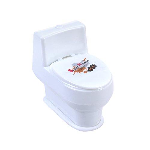 LUOEM Streich-Spielzeug Mini lustig Closestool Squirt Spray Wasser WC Witz Trick Spielzeug für Kinder und Erwachsene Aprilscherz Day Überraschung Geschenk (weiß)