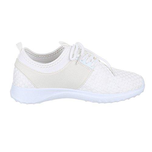 Ital-Design , Baskets pour femme Blanc - Blanc