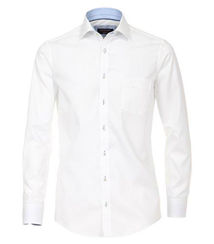 Michaelax-Fashion-Trade -  Camicia classiche  - Basic - Classico  - Maniche lunghe  - Uomo Weiß (000)