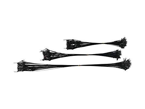 60 Stück Stahlvorfachset 1x7 schwarz 15 20 30cm Angel Stahlvorfach - ummantelt Hecht Wirbel Karabiner geschmeidig Stahlvorfächer Raubfisch angeln Zubehör Set dünn fein fertig kurz (60Stück 15/20/30cm)