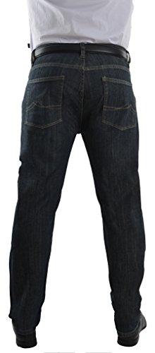 Herren Jeans Hose Straight Leg gerader Schnitt Jeanshose W30 bis W46 Big Size Blue Black