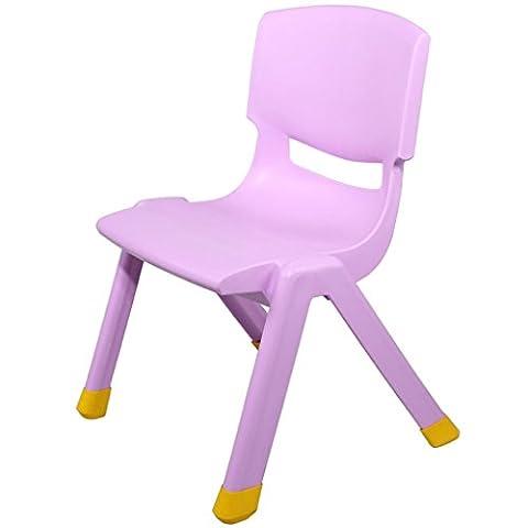 Chaise d'enfants plus épineuse Chaise de dossier de jardin d'enfants Chaise de bébé Chaise d'apprentissage pour enfants en plastique Accueil Tabourets antidérapants ( Couleur : Violet , taille : 24cm )