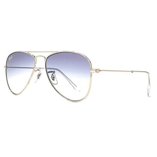 Ray-Ban Junior Aviator Sunglasses in Silver Blue Gradient RJ9506S 212/19 50