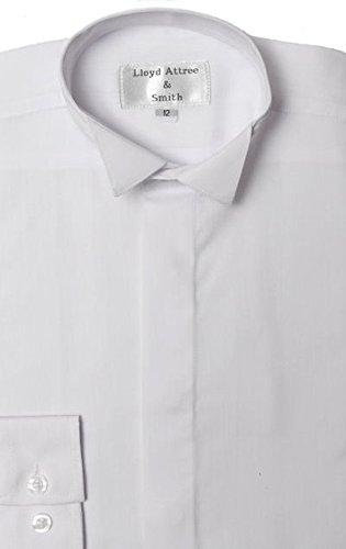 - Qualität schwarz oder weiß Kläppchenkragen-Hemd, Jungen Weiß - Weiß