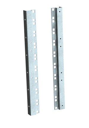 21U Rail de montage en Rack-Lot de 2–Gris clair-pour grille
