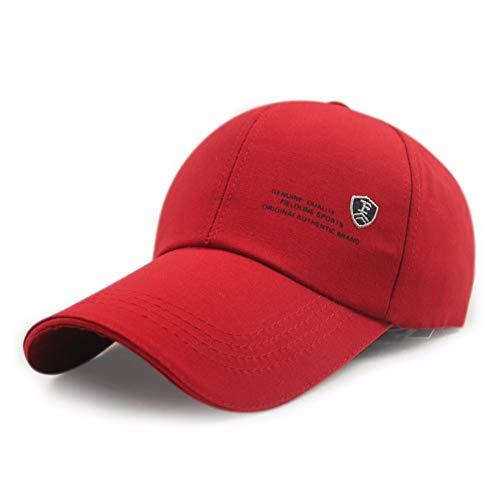 MZ Sonnenschutz Kappe Männer und Frauen Sport im Freien Sonnenschutz Sonnenhut Lange Kappe Baseball Cap, rot