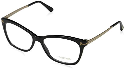 Tom Ford Damen FT5353 001 54 Brillengestelle, Schwarz (NERO LUCIDO),