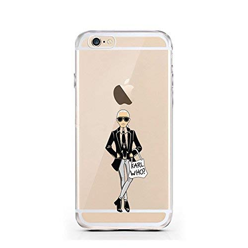 licaso iPhone 6 Handyhülle TPU mit Print Motiv - Transparent Cover Schutz Hülle Design Mode Aufdruck Druck Karl Who Print Motiv - Transparent Cover Schutz Hülle Dog Dreams Aufdruck Druck