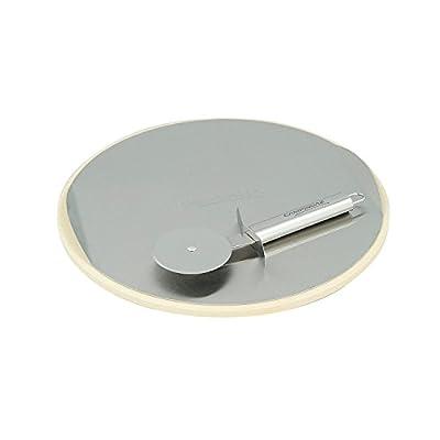 Campingaz Pizzastein für das Culinary Modular System mit Schneidrad, Edelstahltablett zum einfachen Aufbringen des Gargutes, Ø 30 cm, Gewicht 1,56 kg