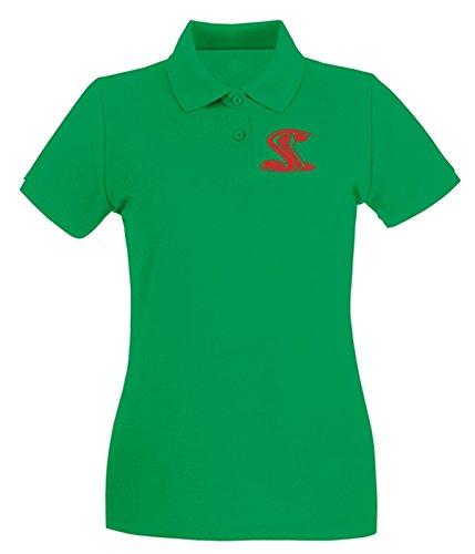 Cotton Island - Polo pour femme FUN0327 058 cobra right 08862 Vert