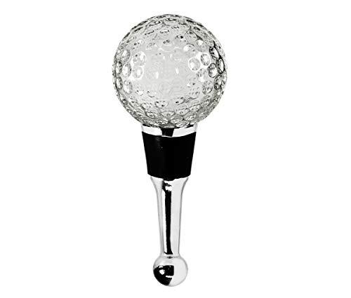 EDZARD Flaschenverschluss Golf für Champagner, Wein und Sekt, Höhe 10 cm, Golf Geschenk, Muranoglas-Art, Handarbeit