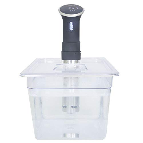 SousVideTools Polycarbonat-Behälter mit modellspezifischem Deckel 11.6L For Use With Anova Sous Vide Circulators