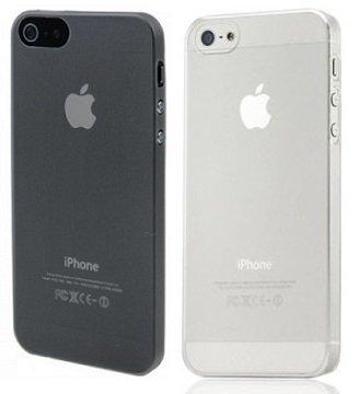 2x itronik ultra dünne Schutzhülle Apple iPhone 5 5S 5SE Hülle 0,2mm in schwarz und weiß transparent