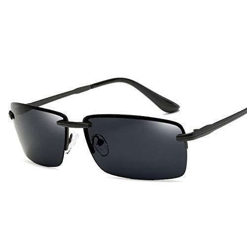 WDDYYBF Sonnenbrillen, Männer Sonnenbrille Sonnenbrille Fahren Männer Classic Low Profile Sonnenbrillen Für Männer Im Freien Uv400 Schwarz Grau